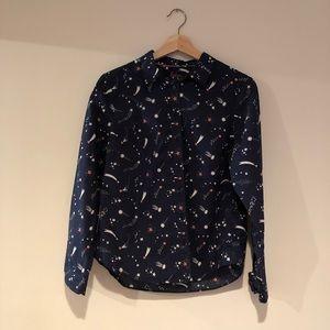 Boden Classic Button Down Shirt in Celestial Print